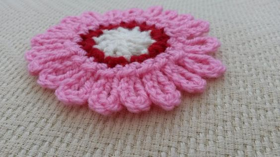 (4) Name: 'Crocheting : Totally Loopy Flower Crochet Pattern