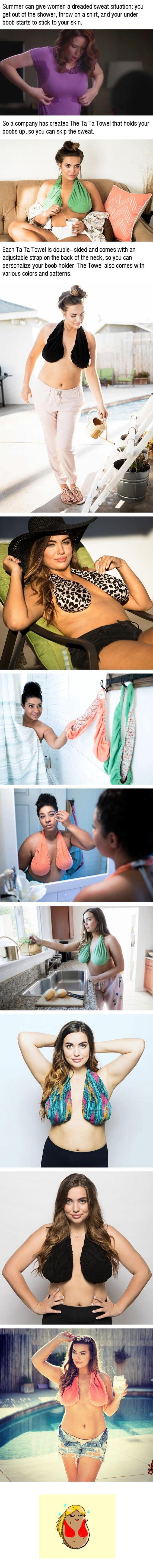 The Ta-Ta Towel Is A Comfortable Boob Hammock To Prevent Humidtitties