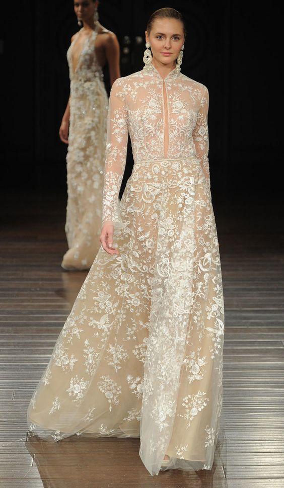 Naeem khan shows elegant embroidered dresses for spring for Naeem khan wedding dress