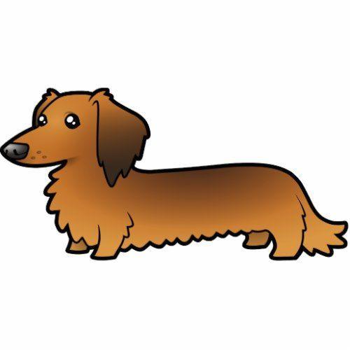 Cartoon Dachshund Longhair Cutout In 2020 With Images