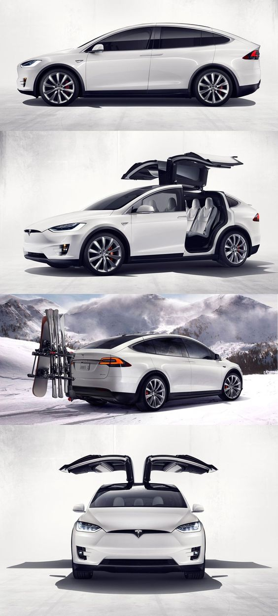 Tesla Model X - pay off for my currently car... Eventually purchase an electronic tesla   You know you have money when you back seat has Delorian style doors: