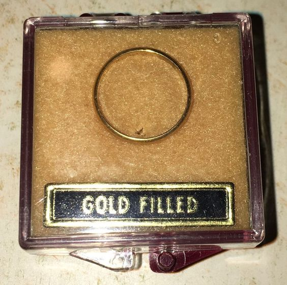 Details about Vintage Gold Baby Ring Band In Box From Estate Sale