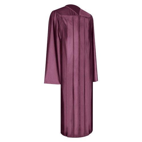 Shiny Maroon Graduation Gown | Our Shiny Maroon Gown symbolizes academic success for graduates of all ages in many schools, colleges and other academic institutions. Made from the finest non-see through shiny fabric, this gown gives graduates unrivalled quality, style and comfort. Make graduation a day to remember with our shiny Maroon graduation gown and enjoy our outstanding value for money prices!