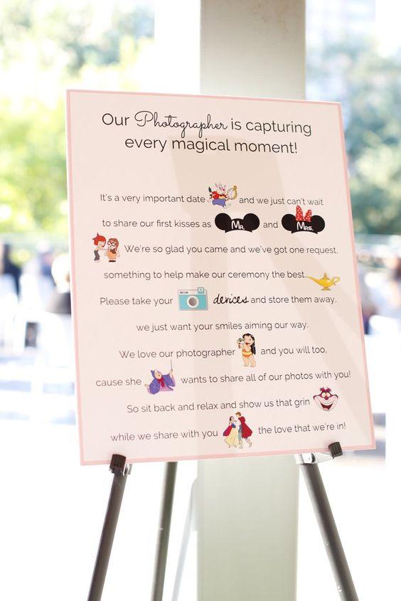 unplugged wedding sign photographer