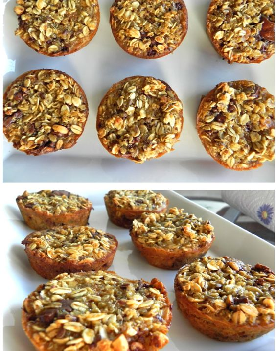 On-the-go muffins!   Low-Fat Banana Oatmeal Chip Muffins  :)  Recipe here- http://toneitup.com/blog.php?On-the-go-muffins-We-LOVE-Food-Friday-5169