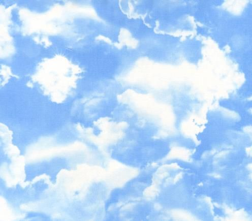 blue sky with clouds fabric | airplane fabric | Pinterest ...