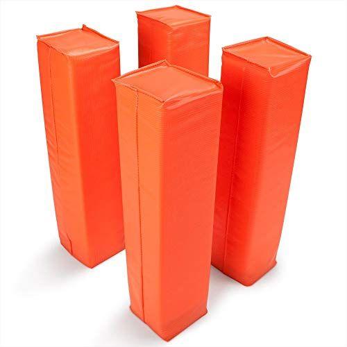 Best Seller Crown Sporting Goods Anchorless Weighted Football Pylons (Set 4), Orange online – Thetophitsseller