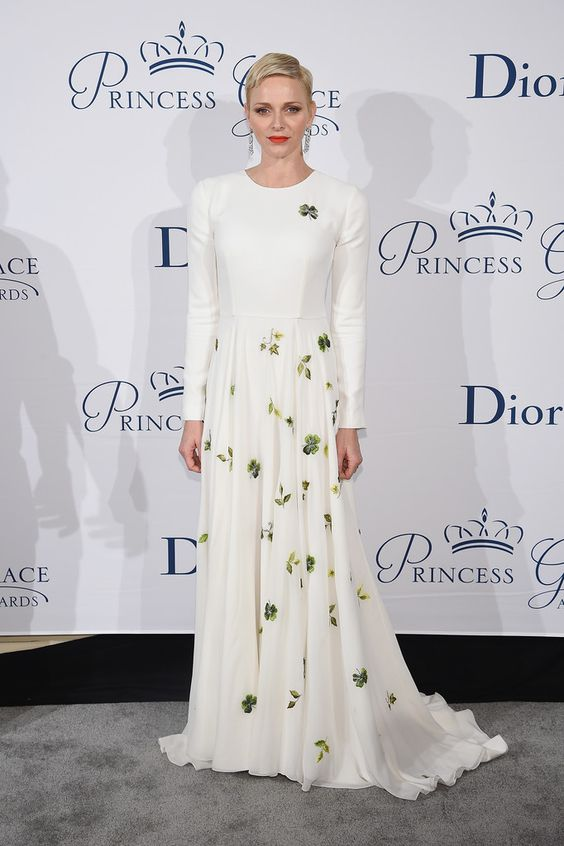 Charlene Wittstock in Dior Couture