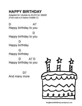 Happy Birthday For Sbwe In Key Of D Kindergarten Songs Happy