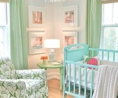 Nursery: Nursery Idea, Kids Room, Baby Girl, Baby Room, Light Fixture, Green Nursery