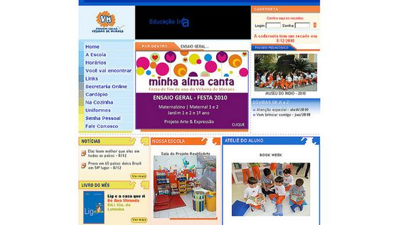 WS AGENCIA DIGITAL - Site da escola Vilhena de Moraes -