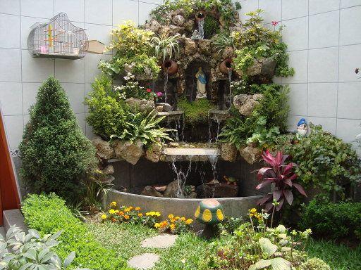 Cascada con gruta como agrandar un peque o jardin - Como arreglar un jardin pequeno ...