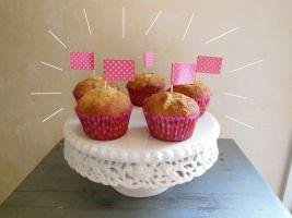 Food #1 Muffins banane-chocolat blanc-noix de coco
