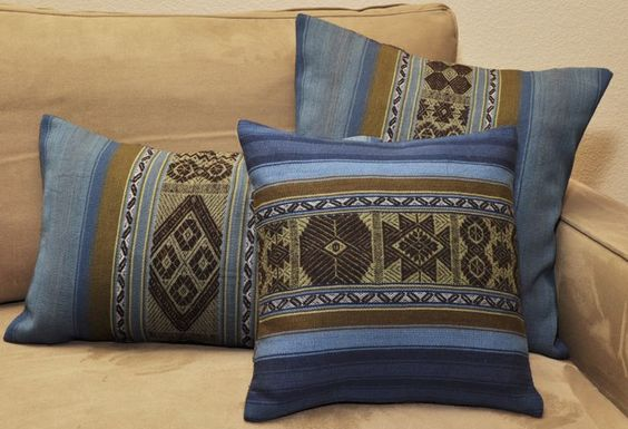 The Chaska and Tika (star and flowers in Quechua) pillow cover collection in…