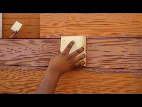 How To Make A Wood Grain Painting On Cement Planks Youtube Wall Texture Design Iron Gate Design Wood Grain