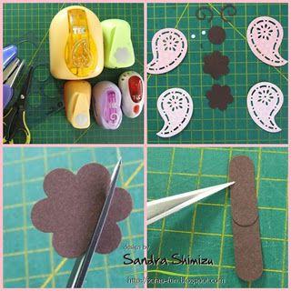 Stamping Up Punch Art Baby | Materiais: bolômetro, pinça, tesoura, caneta preta 0.3, caneta ...