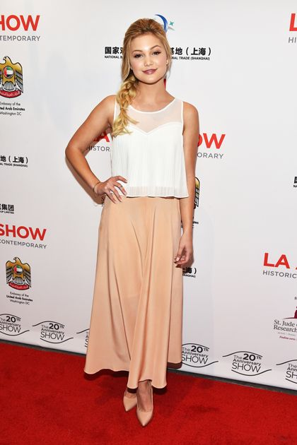 Olivia Holt at the 2015 L.A. Art Show Opening Night Premiere Party