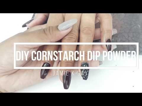 Updated Diy Cornstarch Dip Powder Nails Stays Longer Stronger Youtube Diy Cornstarch Diy Acrylic Nails Dipped Nails