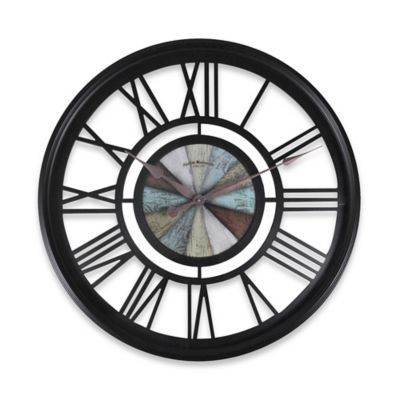 FirsTime® Oversized Rustic Roman Wall Clock in Oil-Rubbed Bronze - BedBathandBeyond.com