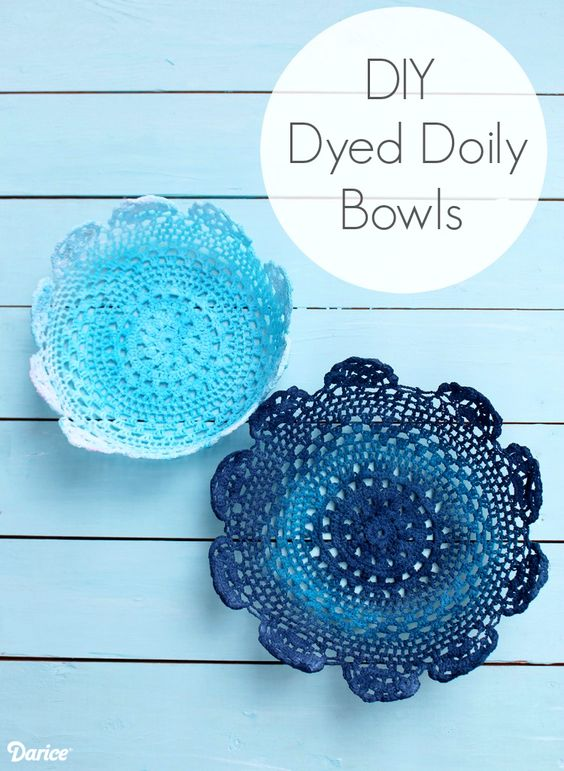 DIY Doily Craft: Dyed Doily Bowls - Darice | Crafts ...