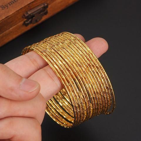 15pcs Indian Traditional Gold Bangles Beautifully Made In 24k Gold Plated Goldjewelleryarabic Dubai Gold Bangles Gold Bangles Indian Gold Plated Bangles