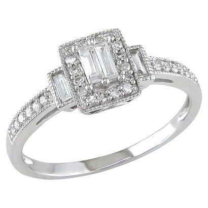 1/3 CT.T.W. Diamond Engagement Ring in 10K White Gold (GHI I1;I2)