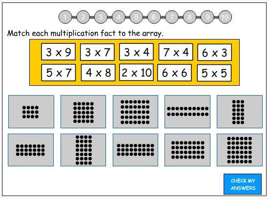 Multiplication Worksheets multiplication worksheets using arrays – Math Arrays Worksheets