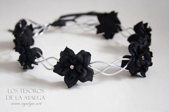 floral crown - flower circlet - gothic crown