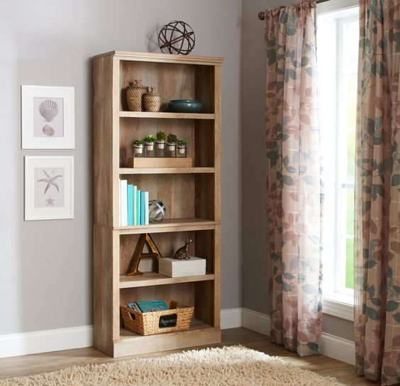 Better Homes And Gardens Crossmill 5 Shelf Bookcase Multiple Finishes Gardens Home And Bookcases