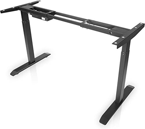 New Electric Stand Desk Frame Fezibo Dual Motor Cable Management Rack Height Adjustable Sit Stand Standing Desk Base Workstation Frame Only Online Nicetop In 2020 Standing Desk Base Stand