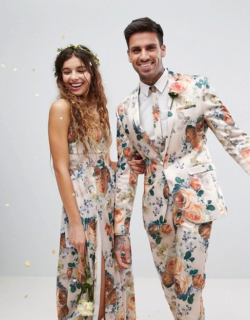 On Trend: Grooms Rocking Floral Suits — Find Your Fave! - Green Wedding Shoes // Stylish Groom Suit and Tux Options for the Fashionable Hipster