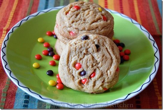 Why have I never thought of this? Peanut Butter Cookies with Reese's Pieces