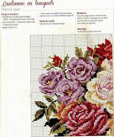 ♥Meus Gráficos De Ponto Cruz♥: Quadro: Vaso de Flores Bordadas em Ponto Cruz