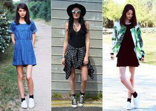 Novos jeitos de usar vestido com tênis