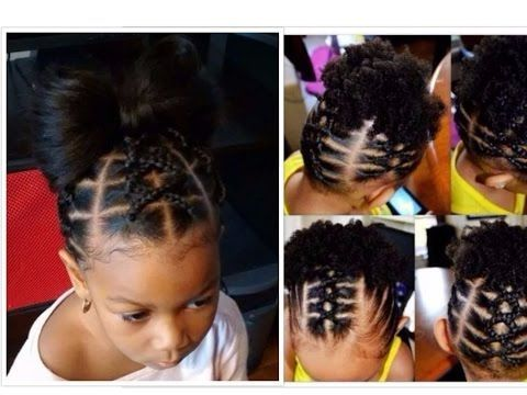 Cute Easy Kids Hairstyles With Rubber Band Youtube Natural