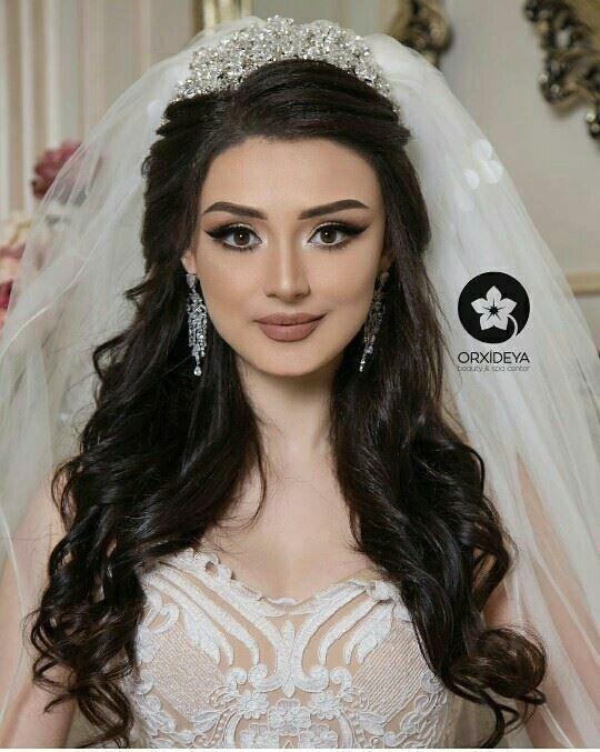 Wedding Hairstyles With Crown Bride Hairstyles Beautiful Wedding Makeup