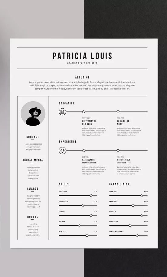 Minimalist Resume By Pixel Vision On Envato Elements Minimalist Resume Template Minimalist Resume Resume
