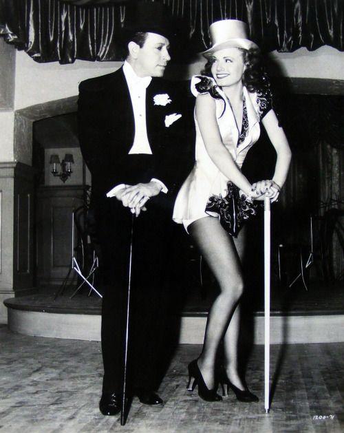 """George Raft, Janet Blair, in """"Broadway"""", (1942)"""