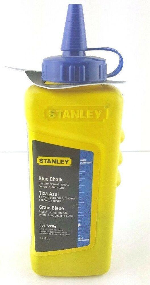Stanley Marking Chalk Blue 8 Oz 226g Refill For Chalk Reel Kit Chalk Line New Stanley Chalk Refill Madera