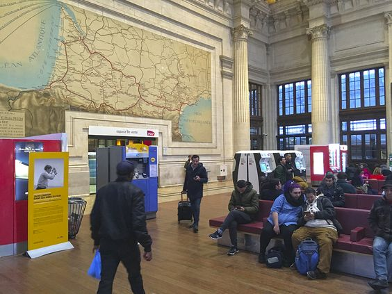 Внутри вокзала Saint-Jean, Бордо