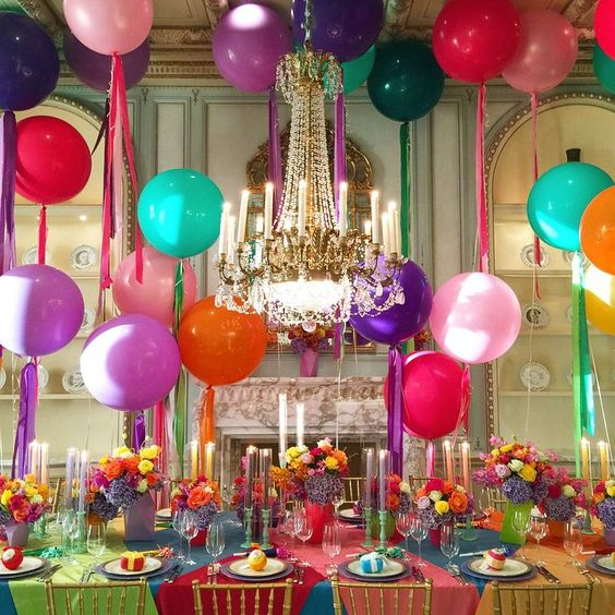 """""""02.13.2015 How about a little bit of color for our Friday?! A super fun party last night at a private residence. ❤️ #whitelilacinc #eventdesign…"""""""