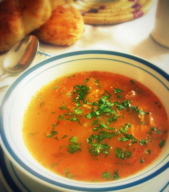 soupe aux tomates express