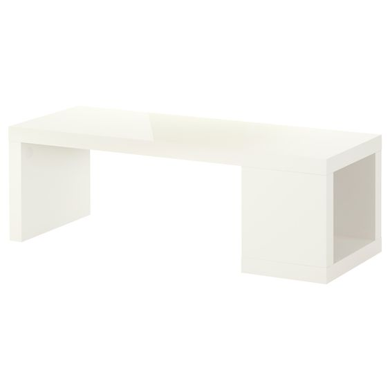 Lack table awesome and tables on pinterest - Table basse blanc ikea ...