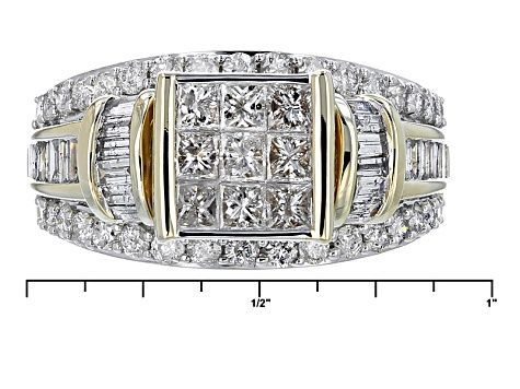 White Diamond 10k Yellow Gold Ring 2 00ctw Rgd022 With Images Yellow Gold Rings Gold Rings White Diamond