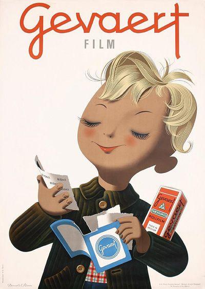 Donald Brun. 1946 #poster #donaldbrun #gevaert :