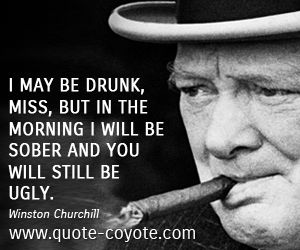 Image result for Winston Churchill you will still be ugly