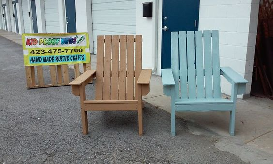 EXTRA LARGE Adirondacks. These Chairs Feature A Lower Slope To Make It  Easier To Get
