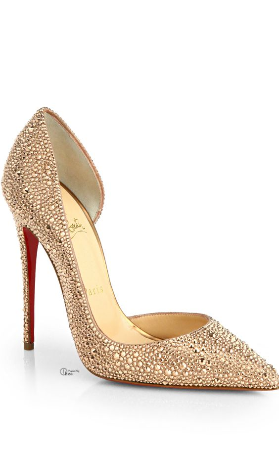 Christian Louboutin Gold Crystal Pumps S✧s