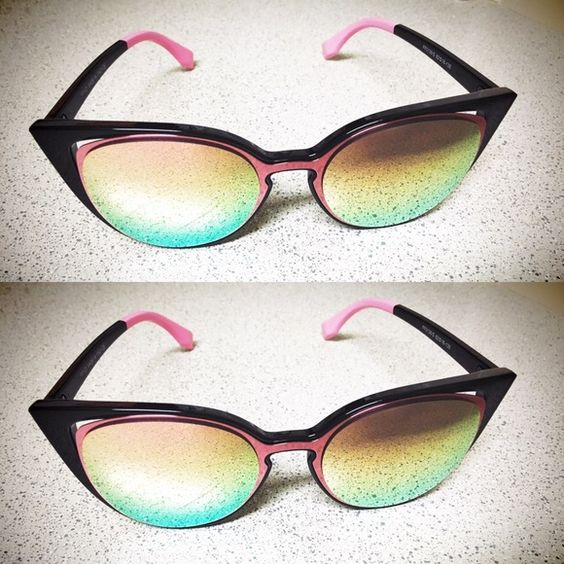 FENDI Mirrored Cat Eye Sunglasses Absolutely GORGEOUS glasses; inspired but can't tell the difference; perfect condition FENDI Accessories Sunglasses