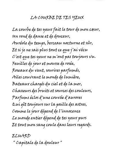La courbe de tes yeux. Paul Eluard